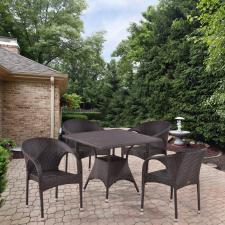 Комплект мебели из иск. ротанга T190BD/Y290B-W52 Brown (4+1)
