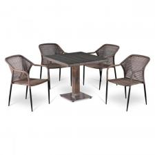 Комплект мебели из иск. ротанга T503SG/Y35G-W1289 Pale (4+1)