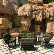 Комплект мебели из иск.ротанга LV520BG Brown/Green