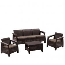 Комплект мебели с диваном AFM-1030A Brown/Cappuccino