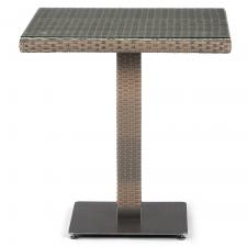 Стол из иск. ротанга T601G-W1289-70х70 Pale
