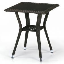 Стол из иск. ротанга T25-W53-50x50 Brown