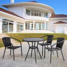 Комплект мебели из иск. ротанга T282ANS/Y137C-W53 Brown (3+1)