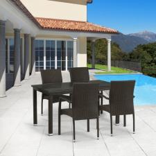 Комплект мебели из иск. ротанга T256A/Y379A-W53 Brown (4+1)