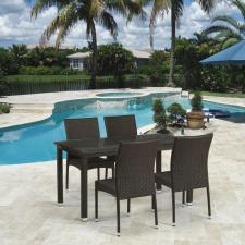 Комплект мебели из иск. ротанга T256A/Y380A-W53 Brown (4+1)