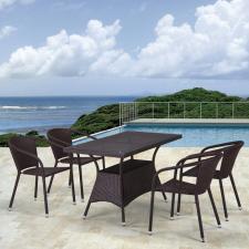 Комплект мебели из иск. ротанга T198D/Y137C-W53 Brown (4+1)