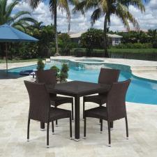 Комплект мебели из иск. ротанга T257A/Y380A-W53 Brown (4+1)