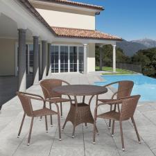 Комплект мебели из иск. ротанга T197AT/Y137C-W56 Light brown (4+