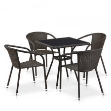 Комплект мебели из иск. ротанга T282BNS/Y137C-W53 Brown (4+1)