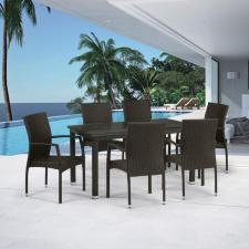 Комплект мебели из иск. ротанга T256A/Y379A-W53 Brown (6+1)