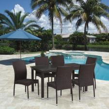 Комплект мебели из иск. ротанга T256A/Y380A-W53 Brown (6+1)