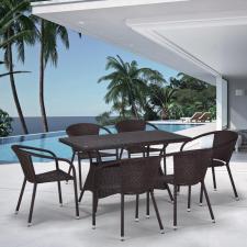 Комплект мебели из иск. ротанга T198D/Y137C-W53 Brown (6+1)
