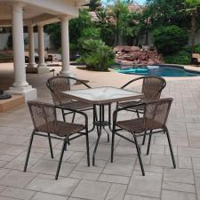 Комплект мебели Асоль-3 TLH-037BR3/070SR-70х70 R-05 Brown 4Pcs