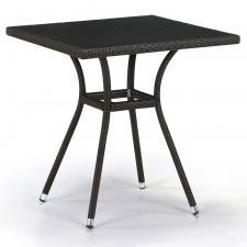 Стол из иск. ротанга T282BNS-W53-70x70 Brown
