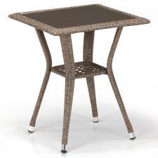 Стол из иск. ротанга T25-W56-50x50 Light brown