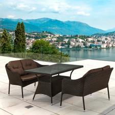 Комплект мебели из иск. ротанга T198A/S54A-W53 Brown