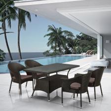 Комплект мебели из иск. ротанга T198A/Y97B-W53 4 Pcs Brown (4+1)