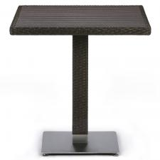 Стол из иск. ротанга T607D-W53-70x70 Brown (декинг)