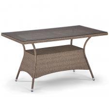 Стол из иск. ротанга T198B-W56-140x80 Light brown