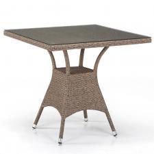 Стол из иск. ротанга T197BT-W56-80x80 Light brown