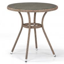 Стол из иск. ротанга T282ANT-W56-D72 Light Brown