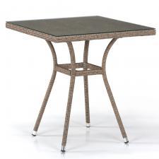 Стол из иск. ротанга T282BNT-W56-70x70 Light Brown