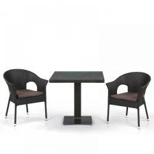 Комплект мебели из иск. ротанга T605SWT/Y97B-W53 Brown (2+1)
