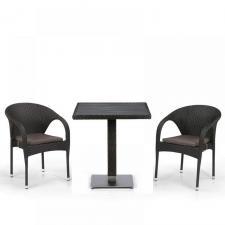 Комплект мебели из иск. ротанга T607D/Y290-W53/52 Brown (2+1)