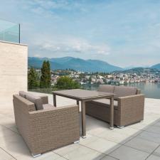Комплект мебели из иск. ротанга T256B/S52B-W56 Light brown