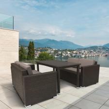 Комплект мебели из иск. ротанга T256A/S52A-W53 Brown