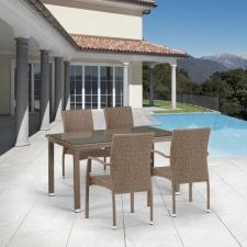 Комплект мебели из иск. ротанга T256B/Y379B-W56 Light brown (4+1