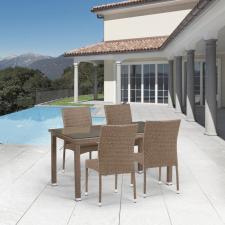 Комплект мебели из иск. ротанга T256B/Y380B-W56 Light Brown (4+1