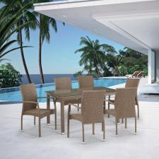 Комплект мебели из иск. ротанга T256B/Y379B-W56 Light Brown (6+1