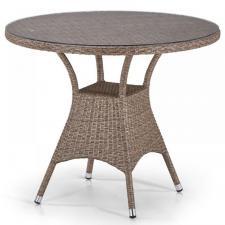 Стол из иск. ротанга T197AT-W56-D90 Light Brown