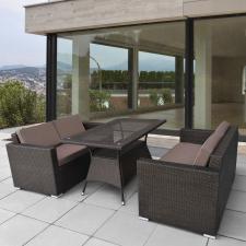 Комплект мебели из иск. ротанга T198A/S52A-W53 Brown